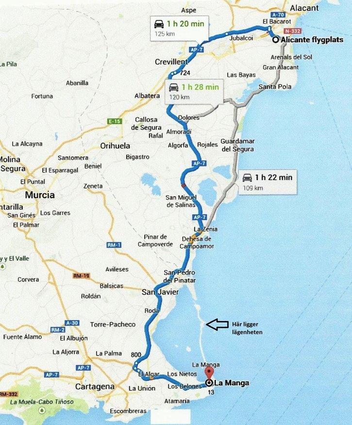 Karta Fran Alicante Till Torrevieja.Alicante Karta Shautolease